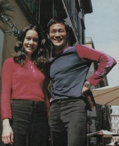 Bruce and Nora from their time filming The way of the dragon