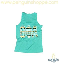 NEW STYLES at Penguin Shoppe!! The Tribal Aqua Aztec Tank just hit stores! We're packing it for the beach, how about you??
