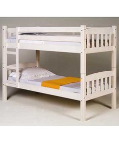 Verona Designs White wash bunk bed Simple timeless shaker design bunk bed made from solid pine in a white washed finish. Offering a great space saving solution the bunk can easily be converted into two single beds when the bunk is no l http://www.comparestoreprices.co.uk/bunk-beds/verona-designs-white-wash-bunk-bed.asp