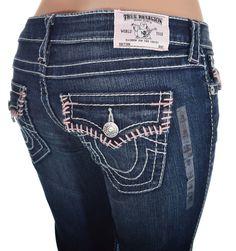True Religion Womens Jeans Size 28 Bootcut w/ Flaps Big T in Serene NWT $337 #TrueReligion #BootCut