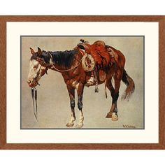 Global Gallery 'Western Navajo Pony' by William R. Leigh Framed Painting Print Size: