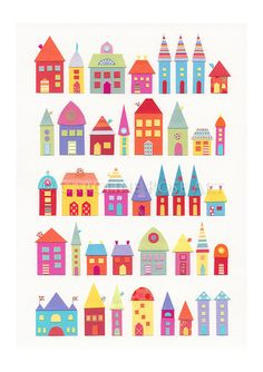 They Lived In A Paper Village  - Fine Art Print