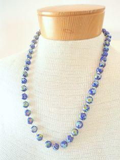 Vintage 1950s Cloisonné Necklace. $75.00, via Etsy.