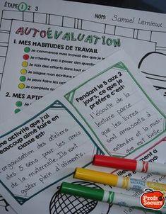 Auto-évaluation en début ou en fin d'étape pour les élèves du primaire. OFFERT GRATUITEMENT par Profs et Soeurs