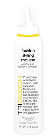 Fashion Styling Mousse - volumizing mousse with low alcohol and resin content. Won't dry the hair or flake.
