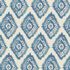 Azure Diamonds Fabric by the yard // Lulie Wallace