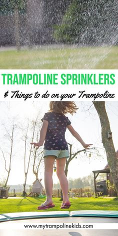 Looking for some fun things to do on a trampoline? Look no further! This post has plenty of ideas for those looking for what to do on a trampoline! Spring Free Trampoline, Springless Trampoline, Toddler Trampoline, Trampoline Springs, Rebounder Trampoline, Trampoline Workout, Trampoline Ideas, Best Sprinkler, Creative