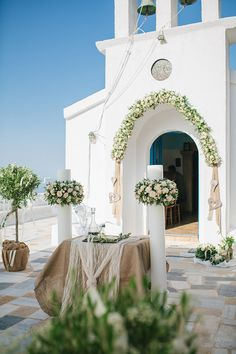 Bohemian Wedding Decorations, Church Wedding Decorations, Wedding Book, Garden Wedding, Dream Wedding, Santorini Wedding, Greece Wedding, Take Me To Church, Background Decoration
