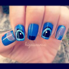 LILO and Stich nails for Disney on Ice 100 Years of magic Nails For Kids, Fun Nails, Pretty Nails, Lilo And Stich, Disney Stitch, Disney Nail Designs, Fingernail Designs, Disney Nails, Nails Tumblr
