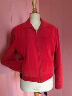 1950's Mens Campus Outwear Corduroy vintage jacket, near new condition, you will look stunning on Rockabilly gigs, or in a hotrod door Tonupgirl op Etsy