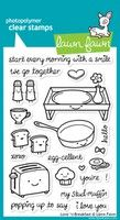 Love N Breakfast Clear Stamp Set By Lawn Fawn  - I love this stamp set, super cute.