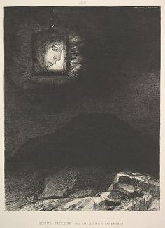 The vague glimmer of a head suspended in space Odilon Redon - 1891.