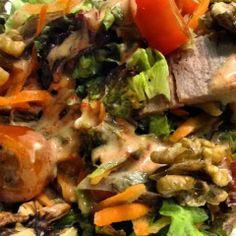 Recetas de Gourmet: Ensalada de Asado y Aderezo de Morron