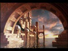 Citadel tunnels Fantasy landscape Fantasy city Fantasy art landscapes