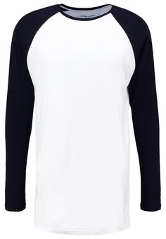 YOUR TURN Langarmshirt white/black Bekleidung bei Zalando.de | Material Oberstoff: 100% Baumwolle | Bekleidung jetzt versandkostenfrei bei Zalando.de bestellen!