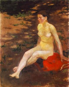 Nude in the Garden 1914 Oil on canvas, 100 x 80 cm Hungarian National Gallery, Budapest