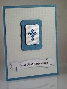 Boys First Communion, Confirmation Handmade Card. $5.50, via Etsy.