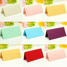 25Pcs Blank Table Name Candy Place Cards Wedding Party Guest Names Favor Decor