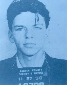 Frank Sinatra mugshot by Russell Young | info@imitatemodern.com for details!