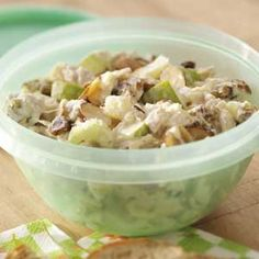 Southern Tuna Salad Recipe -   2 cans tuna, drained  1 large apple, chopped  1 cup sliced celery  1 cup grapes or raisins  1/4 cup walnuts or almonds  1-2 tablespoons mayonnaise  2-3 tablespoons mustard  1 tablespoon lemon juice