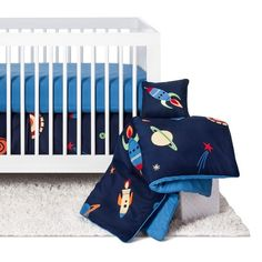 Sweet Jojo Designs Space Galaxy 11pc Crib Bedding Set - Blue : Target