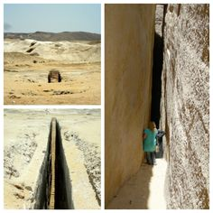 """Near Abu Rawash (Abu Roash) in Egypt is this giant staircase cut into the bedrock… unknown how deep or where to because it's submerged in water… This discovery has been made by researcher Antoine Gigal: """"The walls were smooth to the touch and seemed..."""