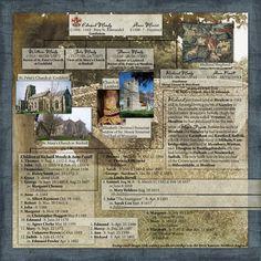 Moody...excellent genealogical scrapbook layout