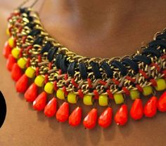 DIY: Collar de cuentas tejido de última moda! | Ideas para Decoracion