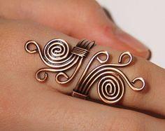anillo de cobre alambre de cobre con anillo de por BeyhanAkman