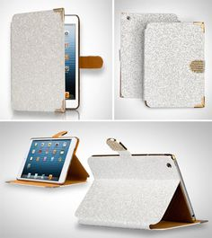 I wish they had this for the I Pad 1 :( Smart Bling Diamond Card Slot Stand Folio Leather Case Cover for iPad Mini | eBay