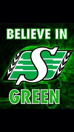 Believe in Green the Saskatchewan Roughriders Go Rider, Bar Pics, Saskatchewan Roughriders, Canadian Football League, Saskatchewan Canada, Rough Riders, Mosaic Projects, Green Colors, Monster Trucks