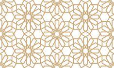 Geometrical seamless pattern in arabian style Premium Vector Arabic Pattern, Gold Pattern, Pattern Design, Vector Background, Background Patterns, Textured Background, White Patterns, Textures Patterns, Geometric Patterns