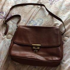 Fossil Handbags - Fossil tan leather 'memoir' crossbody purse