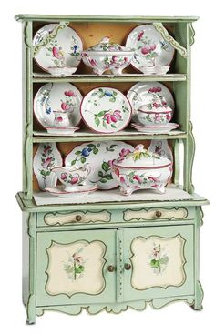 Dollhouse Miniatures : Miniature china cabinet  Share, Repin, Comment - Thanks!
