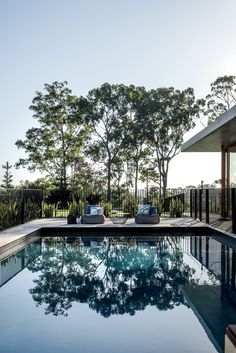 The Nest by Shaun Lockyer Architects - An Acreage Lifestyle Moments from the City - Amongst the leafy inner-city suburb of Bardon sits an elaborate home intended to create an 'acrea -