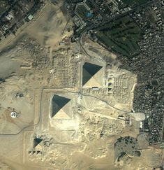 Giza Pyramids from above