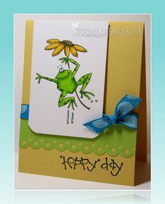 Fun frog card