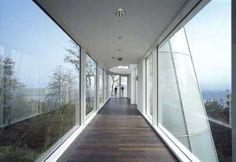 Arp Museum in Rolandseck, Germany. Richard Meier, Residential Architecture, Modern Architecture, Arp Museum, Floating Platform, Breezeway, Polished Concrete, Main Entrance, Exhibition Space