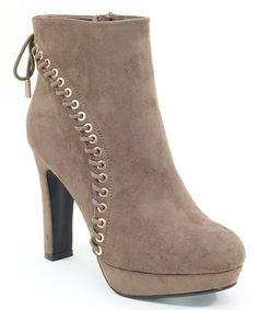 59293095a75e This Selina Taupe Side-Lace Bootie by Selina is perfect!