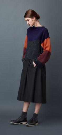 Women's Kimono Colour Block Pullover