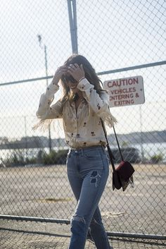 Aimee Song of Song of Style in the AC for AG Sabine jeans