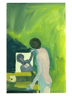 Paul Wonner,Woman with Mirror and Skull, 1961