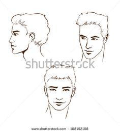 Man Face Profile Stock Vectors Vector Clip Art Fashion Illustration Face Line Illustration Mens Fashion Illustration