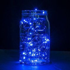 Copper Wire LED String Lights2 Set of Micro 30 LEDs Starry Lights4.9 Ft (1.5m) for DIYHomePartyWedding Centerpiece or Table Decorations (BlueBatteries Included)