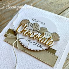 Do you love truffles and chocolate?  This Nothing's Better Than Stamp Set by Stampin' Up! is perfect for making great hand stamped cards. Handmade Greetings, Greeting Cards Handmade, Chocolate Card, Chocolate Cocktails, Diy Cards, Craft Cards, Coffee Cards, Hand Stamped Cards, Stampin Up Catalog