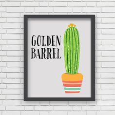 Southwest Art Print Home Decor  Golden Barrel by LucyDarlingPrints, $24.99