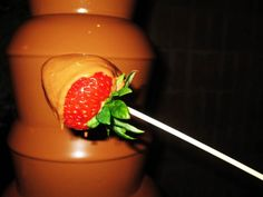 Chocolate Fountain for birthday. Chocolate Fountains, Melting Chocolate, Special Occasion, How To Memorize Things, 18th, Strawberry, Fruit, Birthday, Food