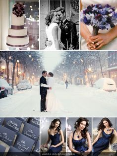 Let It Snow Winter wedding. beautiful purple color on the cake
