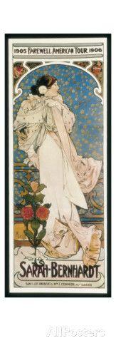 Farewell American Tour of Sarah Bernhardt Giclee-vedos