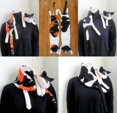 Knitted Cat Scarf - find a FREE Pattern in our post